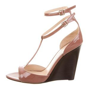 BURBERRY Prorsum T-Strap Wedge Sandals